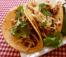 mole pulled port tacos