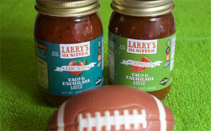 Larry's All Natural Sauces spice up any Tailgate Party