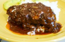 Chicken Mole made with Larry's All Natural Mole Sauce
